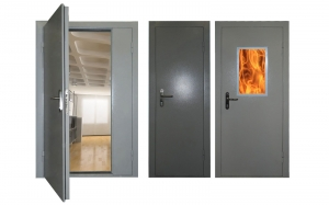 Двупольная противопожарная дверь